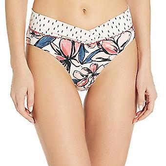 Anne Cole Studio Women's High Waist Banded Bikini Swim Bottom, Floral Print, ...