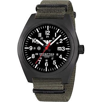KHS - Men's Watch - Inceptor Black Steel Nato band - KHS. INCBS. NSGO