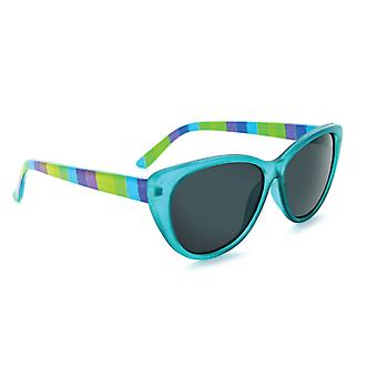 Kids kitten - polarized sunglasses with striped blue frame