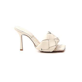 Bottega Veneta 608854vbss08279 Sandalias de Cuero Blanco Para Mujer y Apos;s