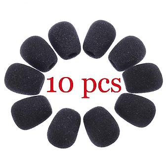 10pcs Mini Microphone Cover Headset Replacement Foam - Microphone Cover Mic Cover Windshield Headset Wind Shield Foam
