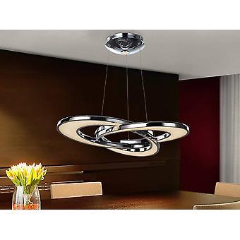 Zintegrowany kryształowy wisiorek sufitowy LED Chrom