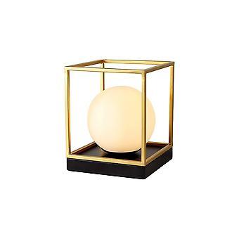 Luminosa-valaistus - Pöytävalaisin, 1 valo E14, Mattamusta, Maalattu kulta