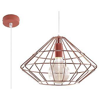 Sollux UMBERTO - 1 licht gekooide plafondhanger koper, E27