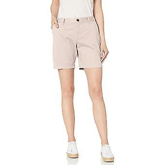 """Essentials Women&s 7"""" Inseam Solid Chino Short, Navy, 14"""