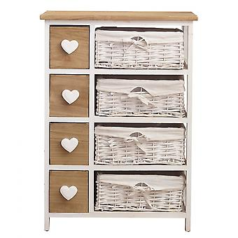Rebecca Furniture Laden Tablesides Shabby Brown Panna 4 Laden 71x51x30