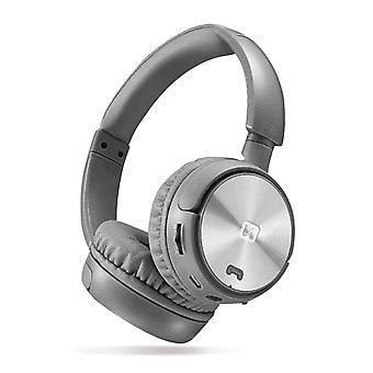 Swissten Comfort FM Micro Trix Bluetooth Headphones - Silver