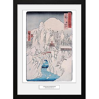 Hiroshige Mount Haruna in Snow Collector Print