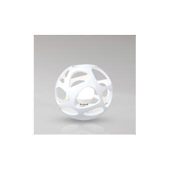 Mantra 5147 Organica Table Lamp 1 Light E27, Gloss White/polished Chrome