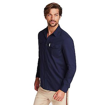 Guess Cotton Shirt - Navy