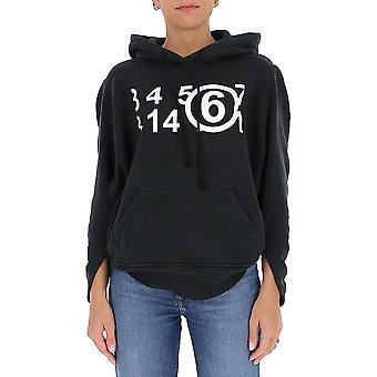 Mm6 Maison Margiela S62gu0037s25409855 Femmes-apos;s Sweatshirt en coton noir