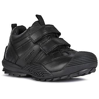 Geox Boys Savage J0424A School Shoes Black