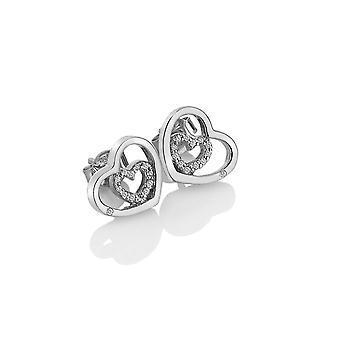 Hete diamanten sterling zilver schattig omhuld oorbellen DE548