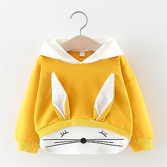 Baby Girls Spring Autumn Clothes Cotton Hooded Cartoon Sweatshirt,  Kids Casual