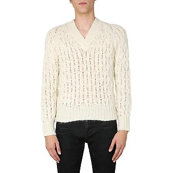 Saint Laurent 626948yaqk29502 Men's Witte Wollen trui