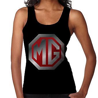 MG Shiny Röd och Chrome Logo British Motor Heritage Women's Vest