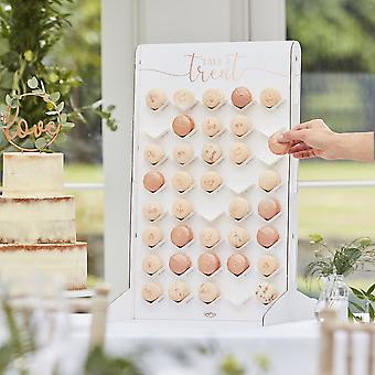 Macaron Stand Treat Wall - Rose Gold Party Food Display