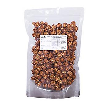 Veganistische kokosnoot en cacao popcorn
