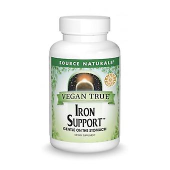 Source Naturals Vegan True Iron Support, 180 Guias