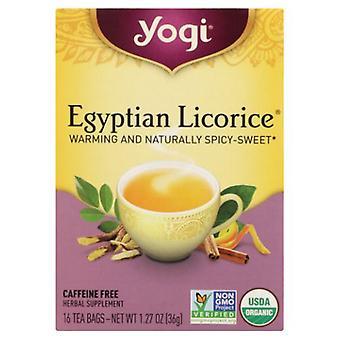 Yogi Tea- Egyptian Licorice , NA, 16 Bags