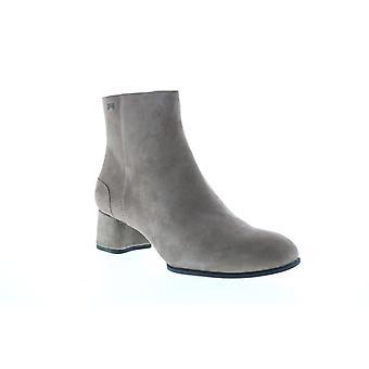 Campista Katie Womens Gray Suede Zipper Heels Pumps Shoes