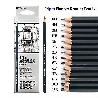 Drawing Pencil Set Wooden Professional Art Supplies Hard/medium/soft Sketch