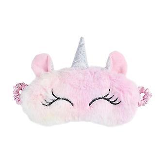 Lindo diseño de unicornio gato, máscara de ojos suave