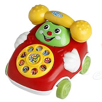Kids Cartoon Pull Line Phone / Mobile Phone Toy- Educational Learning Cell