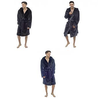 Foxbury miesten hupullinen hohtava fleece kylpytakki