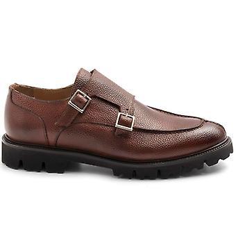 Shoe Model Norwegian John White With Double Buckle