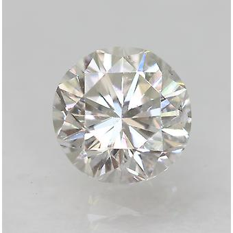 Certified 0.77 Carat E VS1 Round Brilliant Enhanced Natural Loose Diamond 5.66mm