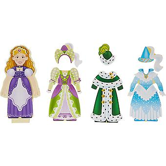 Melissa and Doug Princess Elise Magnetic Wooden Dress-Up Doll