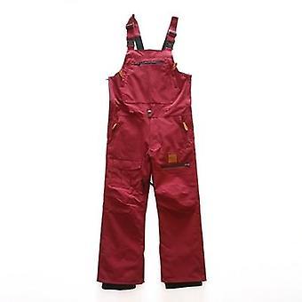 Ski Snowboarding Waterproof Bib Snow Pants Thermal Warm Men Vintage Work