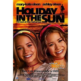 Urlaub in der Sonne Film-Poster (11 x 17)