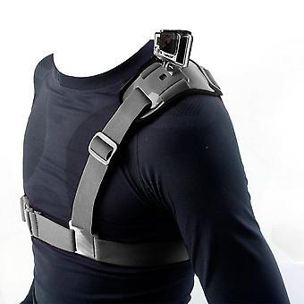 Hapurs axelrem montera sele enda axel bröstrem stöder bälte för gopro hjälte 2 3 3+