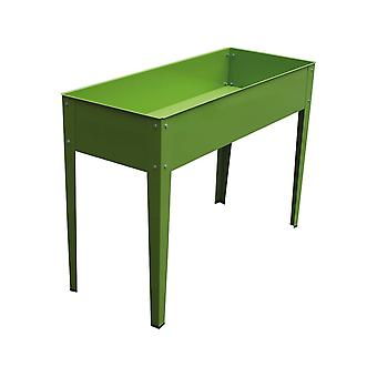 "Huerto jardinera de metal ""Jacinthe"" - 100 x 40 x 80 cm - Verde"