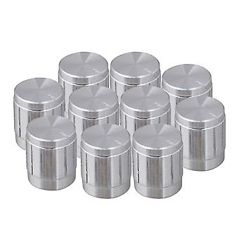 10x Exquisite Volume Control Rotary Potentiometer Knobs Argent