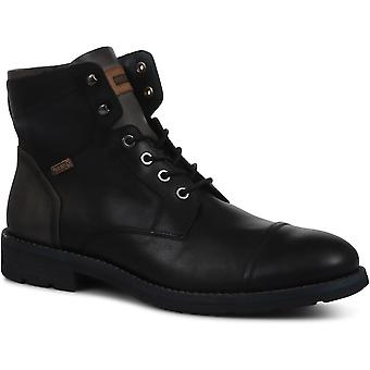 Pikolinos Mens Leather Lace-Up Ankle Boot