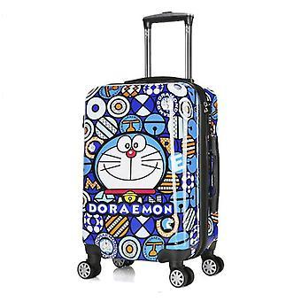 Kova kuori Doraemon-vaunu / matkalaukku Lasten rullaava matkalaukku