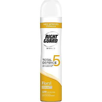 Right Guard Total Defence 5 Floral 48h Anti-Perspirant