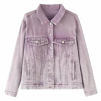 Tie-dye Long Sleee Streetwear Jacket Denim Coat
