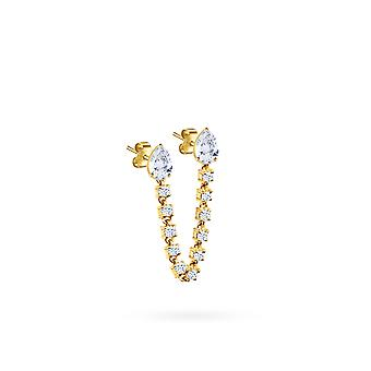 Boucles d'oreilles Double Pear Precious, 18K Or et Diamants