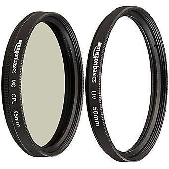 Amazonbasics kruhový polarizační filtr - 55 mm & UV ochranný filtr - 55 mm filtrový svazek