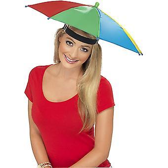 Smiffys Regenschirm Hut - mehrfarbige 1 Orignal Verpackung