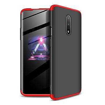 360 Grad Ganzkörpertasche für das OnePlus 7 - schwarz/rot