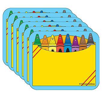 Etiquetas de nombre de caja de crayón, 40 por paquete, 6 paquetes