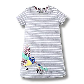 Party-Kleid, Mutter und Baby Vogel Design, Kleinkind