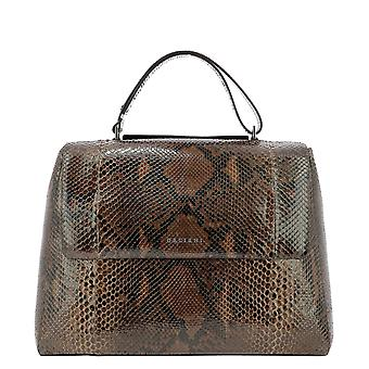 Orciani Bt1979diamcacao Women's Brown Leather Shoulder Bag