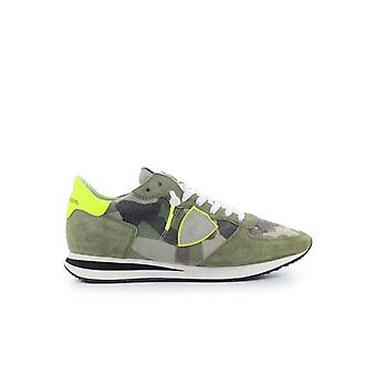 PHILIPPE MODEL TRPX CAMOUFLAGE YELLOW GREEN SNEAKER
