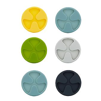 CREADYS 2 x Silicone Wine Glass Coasters - Set of 6